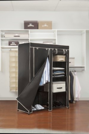 Black Portable Closet By Kennedy Home Collections by Hold N Storage