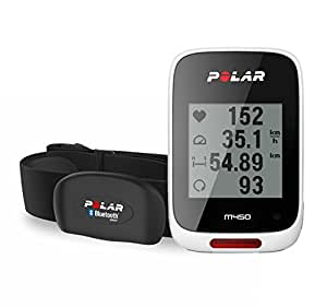 Polar M450 Bike Computer con GPS Integrato e Fascia Cardio Bluetooth Smart, Bianco