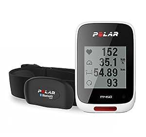 Polar M450 Bike Computer con GPS Integrato e Fascia Cardio Bluetooth Smart, Bianco
