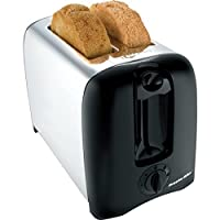 Proctor-Silex Bagel Toaster Chrome 2-Slice Extra Wide Slots 900 Watts 120 Volt Chrome/Black
