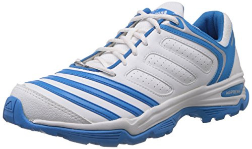 adidas Men's 22Yds Trainer 3 Core White, Solar Blue and Silver Mesh Cricket Shoes - 6 UK  available at amazon for Rs.3324
