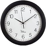 Hama Funk Wanduhr PG-300 (automatische Zeitanpassung, automatische Zeitumstellung von Sommer- und Winterzeit, modernes Ziffernblatt) schwarz
