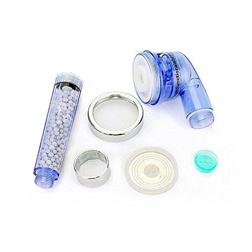 efluky 3 mode alcachofa de ducha de mano de ahorro de agua con filtro mineral de la perla para cambiar la calidad del agua ,344 agujeros de cabezal de ducha de agua perforados a través de un láser de precisión para masaje su piel ,con 1.5 manguera