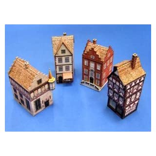 Aue-Verlag 6 x 6 x 9 cm Old Town Halls Model Kit (4-Piece)