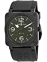 94371272a6e Bell and Ross Military Type Automatic Olive Dial Mens Watch BR0392-MIL