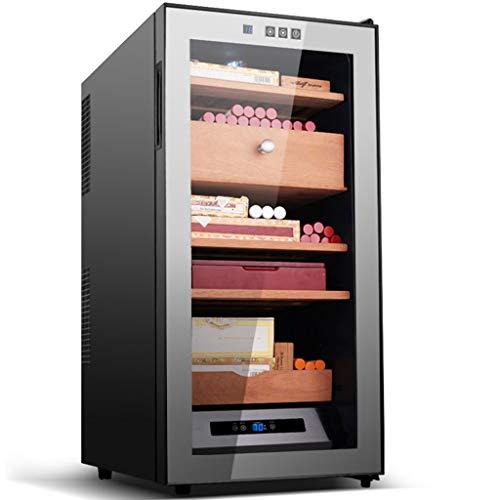 GXFC Elektronischer Zigarren Humidor, Duales Kühl/Heizsystem, Digitale Temperatur- / Luftfeuchtigkeitsanzeige, Regal aus spanischem Zedernholz, Leiser Betrieb Zigarrenschrank