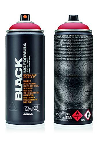 Montana Black 3020 fire rose, 400 ml Sprühdose - Black Fire Glas