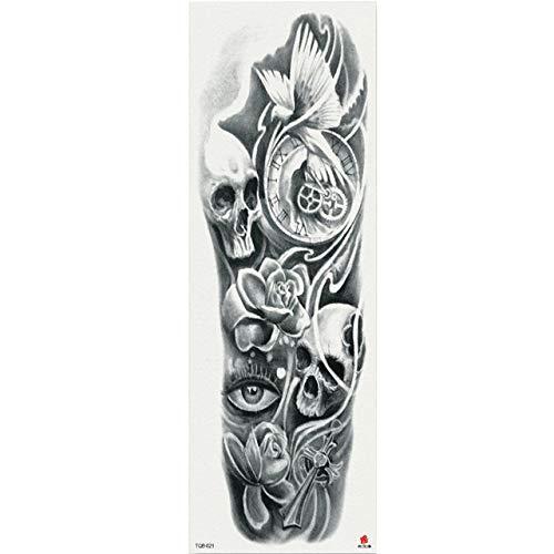 7pcs Virgen del brazo del tatuaje tatuaje completo Pieza Buda estatuas Patrón