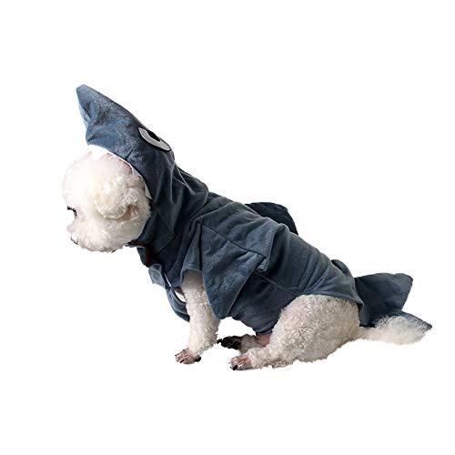 PET Halloween Party Turned Costumes Costumes Festival Frühling und Herbst Dog Sharks Turned Body Equipment Costume Pet Kleidung für kleine Hunde (Farbe : Gray, größe : XL)