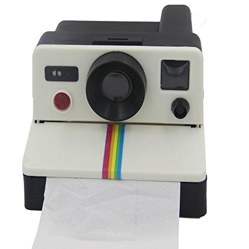 MUMENG Retro - Style Polariod Creative Kamera Toilettenpapier-Box Toilettenpapierhalter Feuchttuchbox Wasserdichte Toilettenpapierhalter Taschentuchspender Tücherbox Kosmetiktücher Kosmetiktücherbox Box-kamera