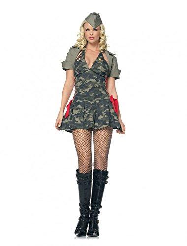 Kostüm SEXY ARMY GIRL mit JACKE Gr. S/M (Armee Kadett Kostüme)