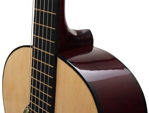 Classic Cantabile AS-851 4/4  Konzertgitarre Natur (Akustikgitarre , geeignet für Kinder im Alter ab 12 Jahren, Bundmarkierung, Nylonsaiten) - 3