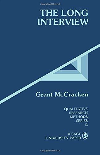 MCCRACKEN: THE LONG INTERVIEW (P) (Qualitative Research Methods) por Grant McCracken