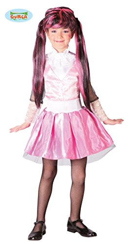Monster Schülerin Kostüm für Mädchen Gr. 110 - 146, Größe:128/134