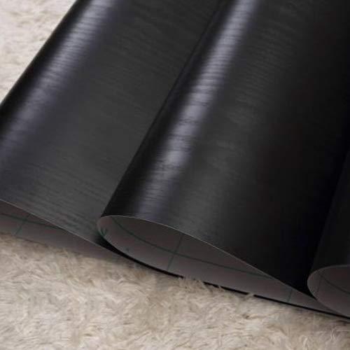 (lovefaye massiv schwarz Holz Getreide Kontakt Papier selbstklebend Regalen Tür zinntheken Schrank Aufkleber 45cm von 9.8Füße)