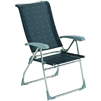 Dukdalf Stühle Campingstuhl Dolce Silber/Anthrazit, 39179