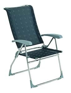 Dukdalf Chaise de camping Aspen anthracite chaise pliante