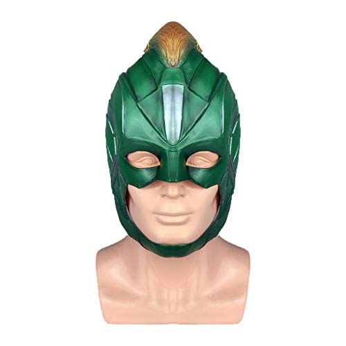 QWEASZER Avengers: Endgame, Captain Marvel Maske, Adult Women Captain Marvel Helm Cosplay Hero Lady - Lady Marvel Kostüm