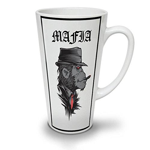 Mafia Affe Gangster WeißTee KaffeKeramik Kaffeebecher 17 | (Kostüm Planet Terror)