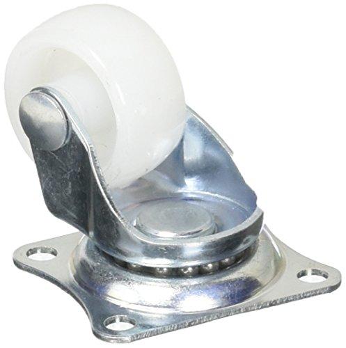 4Drehplatte 2,5cm Durchmesser PP Rad Caster für Wäscherei Warenkorb Bäckerei Rack -