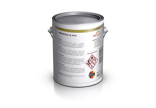 Bekateq LS-470 PU Bodenfarbe, seidenmatt RAL9010 Weiss 2,5l, 1K Betonfarbe zur Beschichtung und Versiegelung von Beton, Mauerwerk, Stein, Putz