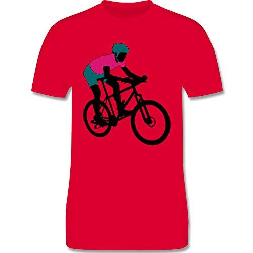 Radsport - Mountainbike MTB Geländefahrrad - Herren Premium T-Shirt Rot