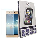 For Gionee Marathon M5 Lite - 1 Pc Saihan Premium Quality Tempered Glass Gionee Marathon M5 Lite Screen Protector Guard With Ultra High Definition Invisible, Oleophobic Coating Anti-Bubble Crystal Shield [Free Portable Mobile Stand Included In The Box]
