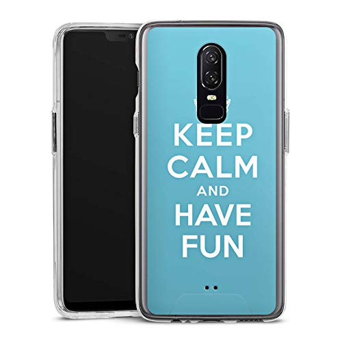 DeinDesign OnePlus 6 Handyhülle Bumper Case Schutzhülle Keep Calm Fun Spass