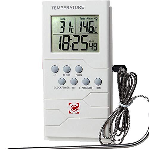 luckything Thermometer Küche Digitales Grill Thermometer,Digitales Funk-Grill-Bratenthermometer Grillthermometer Ofenthermometer BBQ Wireless Thermometer Mit Sonden Für BBQ, Ofen Und Grills,Küche