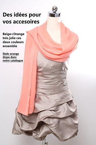 ROBLORA Damen Bustierkleid Kleid, Einfarbig rosa rosa Beige