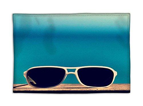 sun-sand-n-lunettes-diner-lavable-facile-a-nettoyer-sets-de-table-microfibre-multicoloured-lot-de-4
