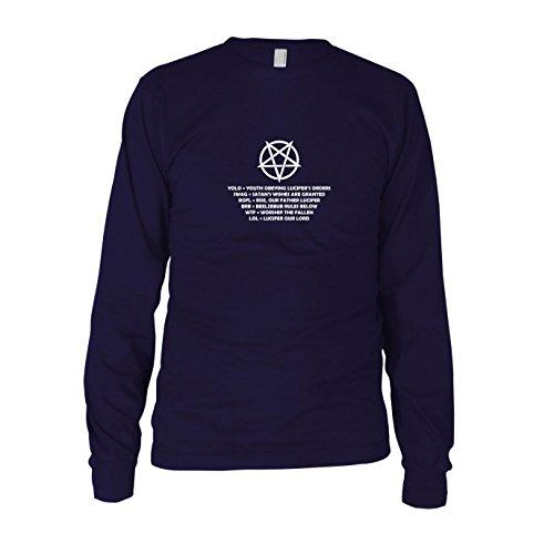Pentagram Lingo - Herren Langarm T-Shirt Dunkelblau