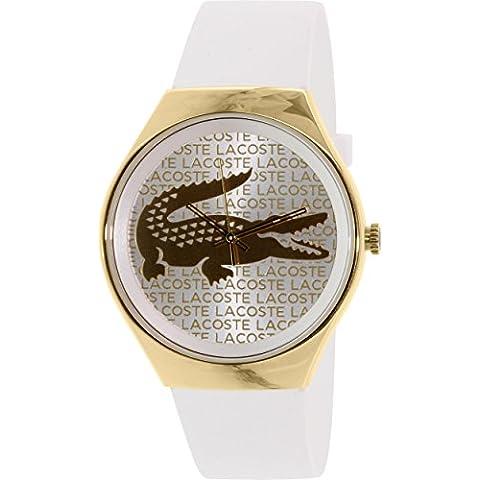 Lacoste 'Valencia' Logo Dial correa de cuero reloj, 38mm