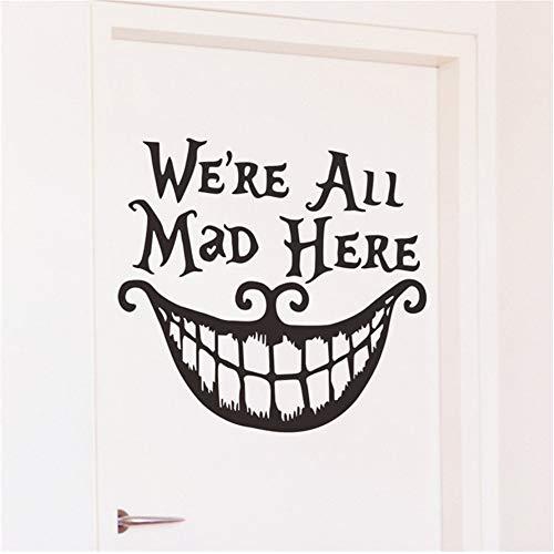 (Zxfcccky Diy Wandaufkleber Halloween Kreative Fliegen Hexen Lächelndes Gesicht Home Wand Dekoration Wasserdicht Entfernbare Wandaufkleber)