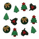 Botones Galore botón de Navidad miniaturas, acrílico