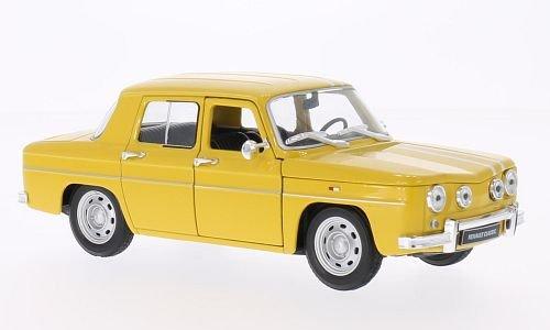 renault-r8-gordini-amarillo-blanco-modelo-de-auto-modello-completo-welly-124