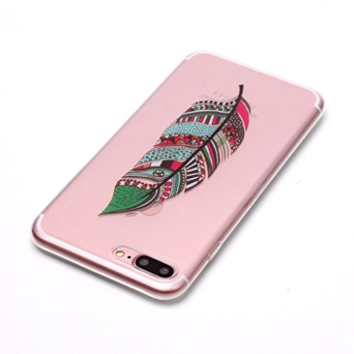 Per iPhone 7 Plus / iPhone 8 Plus Cover , YIGA Fiore di scheletro Cristallo Trasparente Silicone Morbido TPU Case Shell Caso Protezione Custodia per Apple iPhone 7 Plus / iPhone 8 Plus (5,5 pollici) XS70