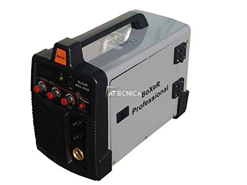 Schweißgerät mit Inverter MIG MAG MMA atecnica Boxer 205E IGBT A Endlosfasern und Elektrode