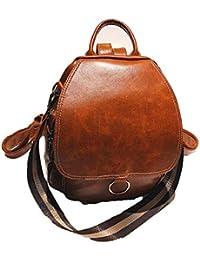 5a728afe897f3 Boern Damen Leder Rucksack Klein Vintage Universität Tagesrucksack College  Daypacks Uni Schulrucksack Schule Backpack Reise…