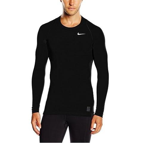 Nike Herren Pro Cool Kompressionsshirt Langarm, schwarz/grau/weiß, XL, 703088