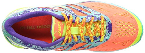 ASICS Gel-Noosa Tri 10, Damen Outdoor Fitnessschuhe Rot (Flash Coral/Flash Yellow/Ice Blue 2307)