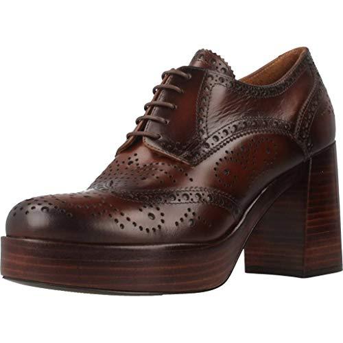 Zapatos Mujer, Color marr�n Cuero, Marca PONS QUINTANA