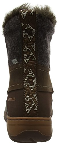 Merrell Sylva Mid Lace Waterproof, Bottes de Neige Femme Marron (Potting Soil)