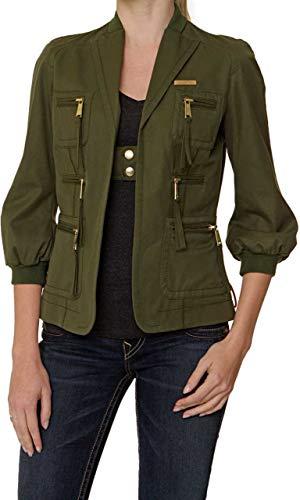 dsquared damen Dsquared Damen Jacke, Farbe: Armeegruen, Größe: 38