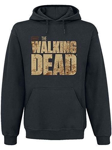 The Walking Dead - felpa con cappuccio - hoodie - logo sul davanti e stampa sul retro - nero - XXL