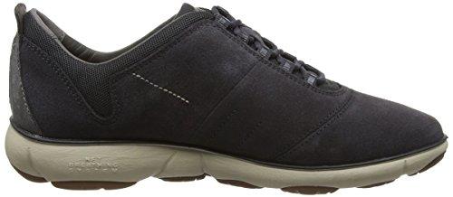 Geox Damen D Nebula E Sneakers Grau (Anthracitec9004)