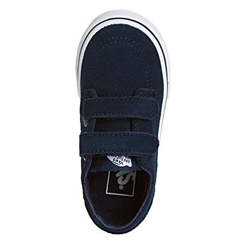 Vans Brigata V Infant White Leather Trainers blue