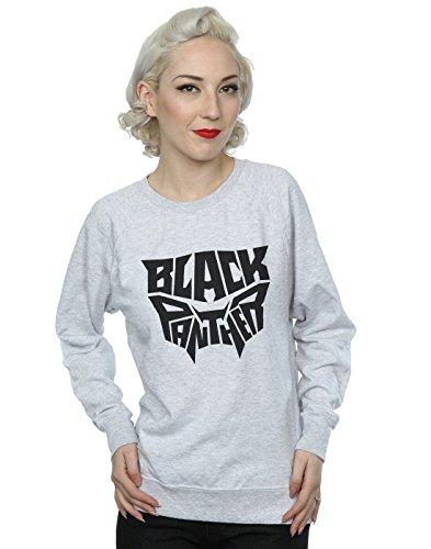 Marvel Femme Black Panther Worded Emblem Sweat-Shirt Heather Grey