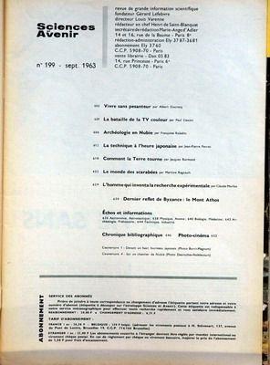 sciences-et-avenir-no-199-du-01-09-1963-vivre-sans-pesanteur-par-ducrocq-la-bataille-de-la-tv-couleu