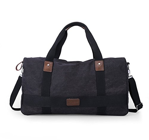 Everdoss Hommes sac à main en toile sac d'épaule sac à bandoulière sac de messager sac de voyage de loisirs grand